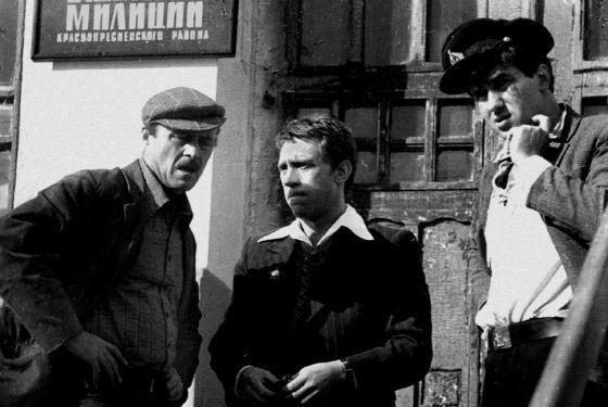 Говорухин (слева), Высоцкий и Садальский