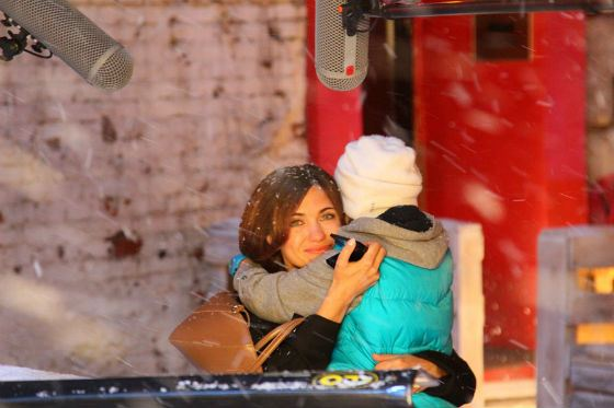Екатерина Климова на съемках «С Новым годом, мамы!»