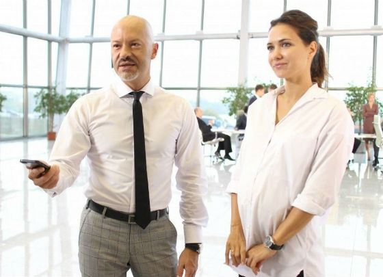 Бондарчук и Климова на съемках фильма «Подарок с характером»
