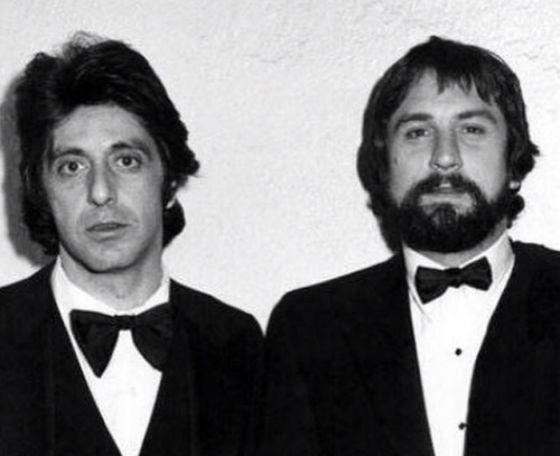 Молодые Аль Пачино и Роберт Де Ниро, 1974 год