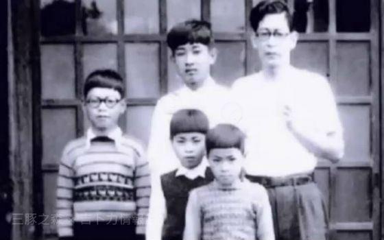Хаяо Миядзаки (слева) в детстве с братьями
