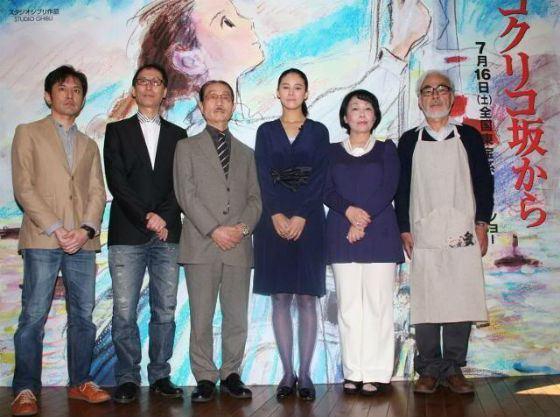 Хаяо Миядзаки с женой на презентации студии Ghilbi (2011 год)