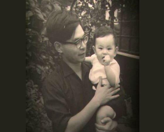Хаяо Миядзаки с сыном Горо