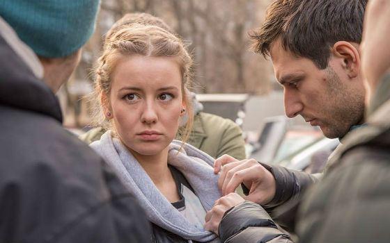 Ирина Старшенбаум на съемках фильма «Кроп»