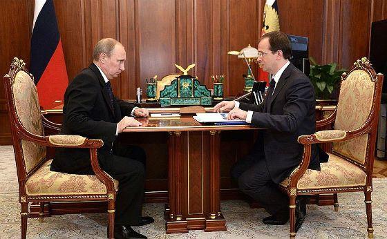 Встреча Владимира Путина и Владимира Мединского (2014 год)