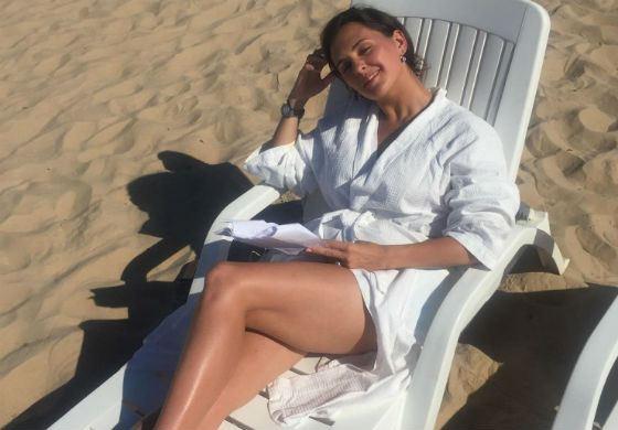 Мария Шумакова на отдыхе