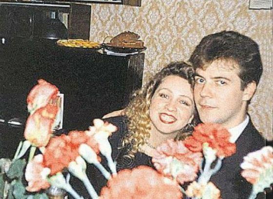 Дмитрий Медведев и Светлана Медведева в молодости