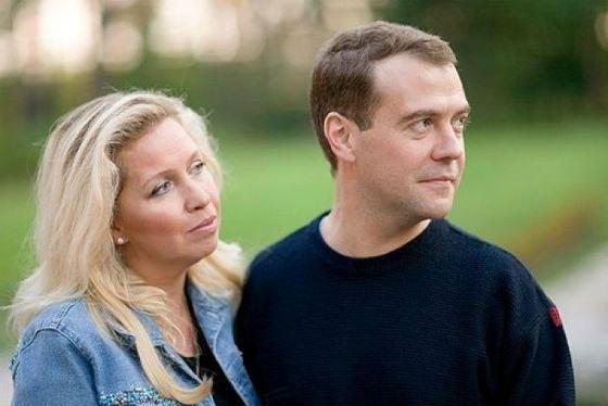 Дмитрий Медведев и его жена