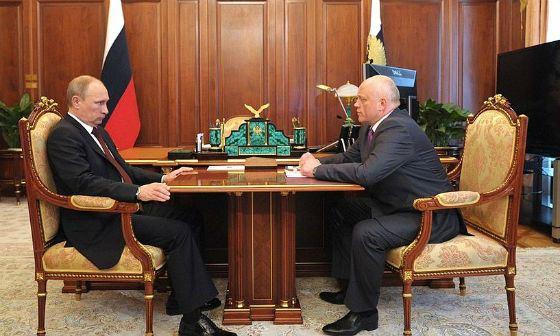 Рабочая встреча Виктора Назарова и Владимира Путина