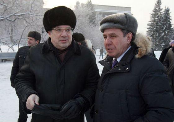 На фото: Виктор Толоконский и Владимир Городецкий, губернатор Новосибирской области