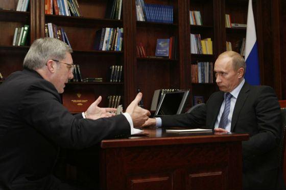 Рабочая встреча: Владимир Путин и Виктор Толоконский