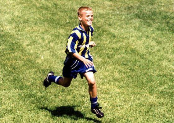 Александр Кокорин начал играть в футбол буквально с пеленок