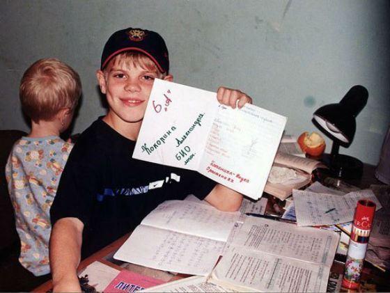 Футболист Александр Кокорин в детстве