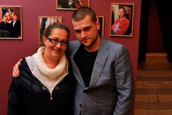 Радиоведущая и писательница Алиса Шер с сыном Кириллом
