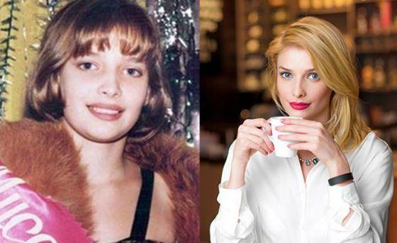 Слева – Татьяна Котова в 13 лет; первая победа на конкурсе красоты