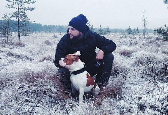 Кирилл Нагиев и его пес