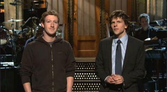 Встреча Джесси Айзенберга и Марка Цукерберга