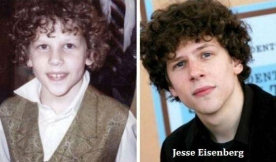 Джесси Айзенберг в детстве и сейчас
