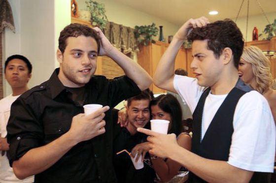Рами Малек и его брат-близнец Сами