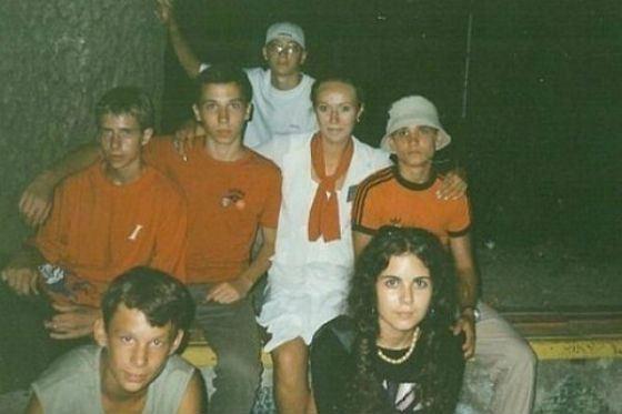 Настя Каменских с друзьями юности