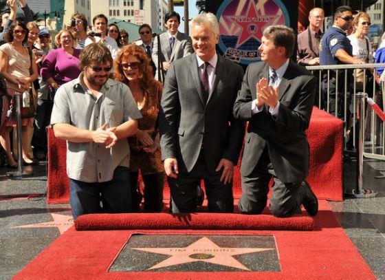 Тим Роббинс на открытии своей звезды на Аллее Славы