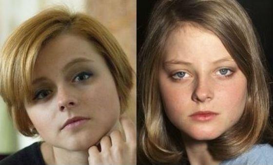 Многие отмечают, что Ксения Суркова и Джоди Фостер похожи