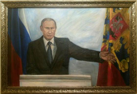 «Владимир Владимирович после отдыха в Крыму»; холст, масло