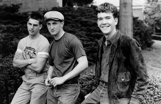 Том Круз, Шон Пенн и Тимоти Хаттон на съемках фильма «Отбой»