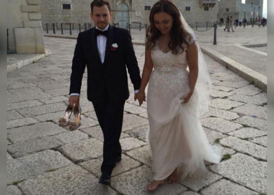 Счастливые молоджены Андрей Гайдулян и Диана Очилова