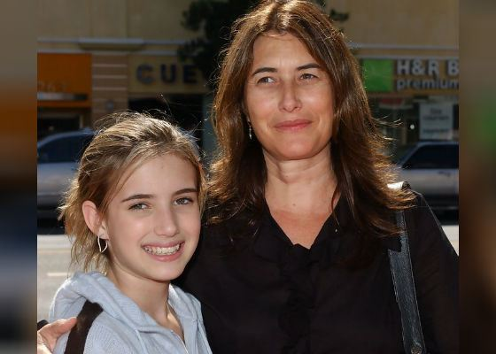 Маленькая Эмма Робертс с мамой, моделью Келли Каннингем