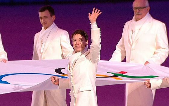 Чулпан Хаматова на открытии олимпиады в Сочи