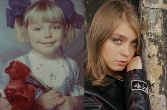Оксана Почепа в детстве