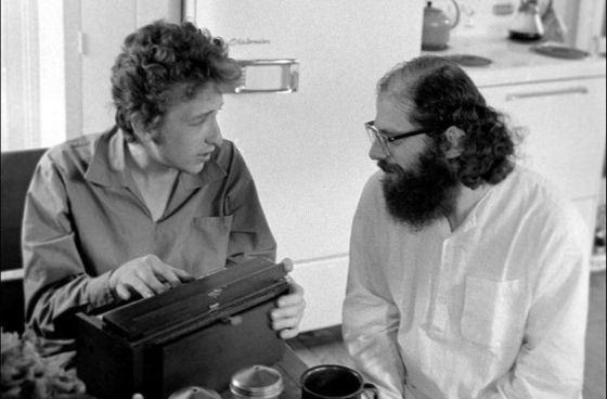 Боб Дилан и Алан Гинзберг
