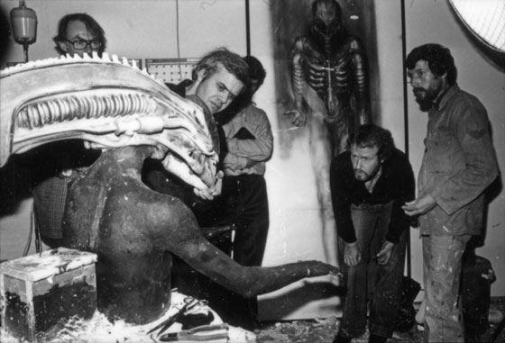 Ридли Скотт на съемках фильма «Чужой»