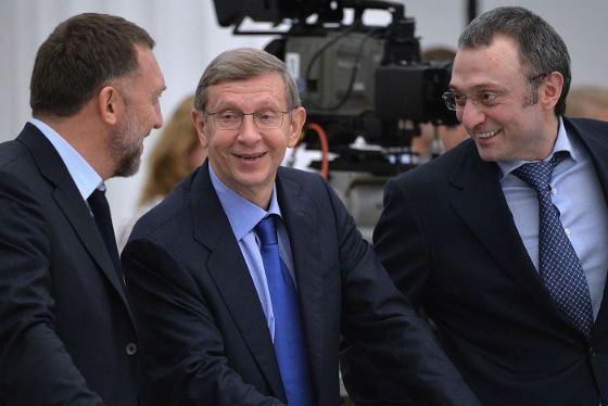 На фото: Олег Дерипаска, Владимир Евтушенков, Сулейман Керимов