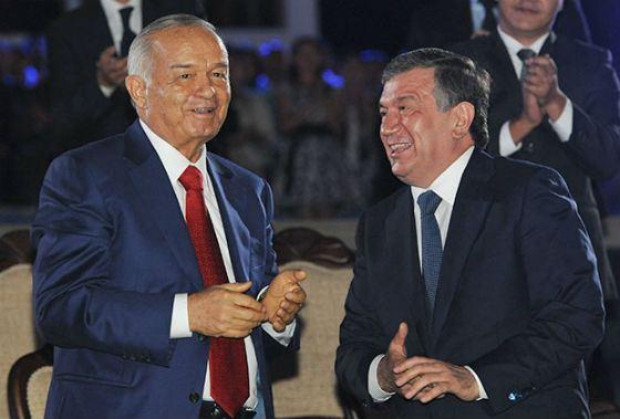 Президент Узбекистана Ислам Каримов и Шавкат Мирзияев