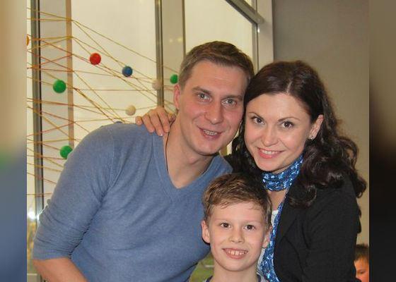 Яков Кучеревский с женой и сыном