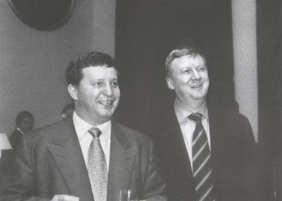 Молодой Альфред Кох и Анатолий Чубайс