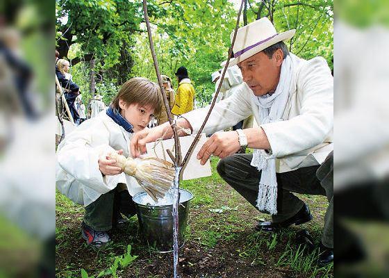 Иван Янковский и его дедушка Олег Янковский (2002 год)