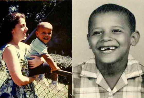 Детские фото Барака Обамы