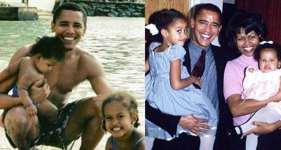 Барак Обама и его дочери: Малия и Саша