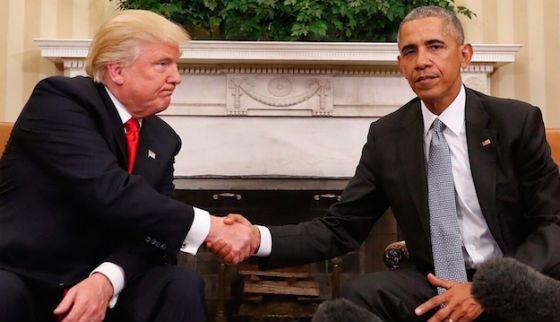 Встреча Барака Обамы с Дональдом Трампом