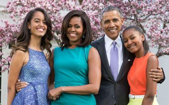 Барак Обама с семьей (2016 год)