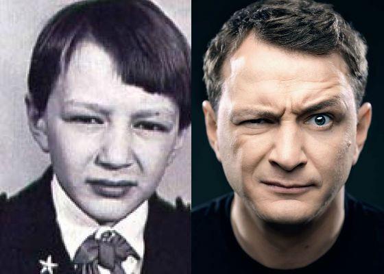 Марат Башаров в детстве и сейчас