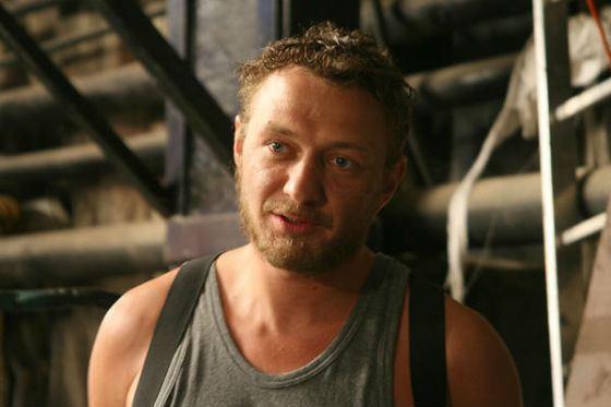 На съемках фильма «Новая земля» (2008)