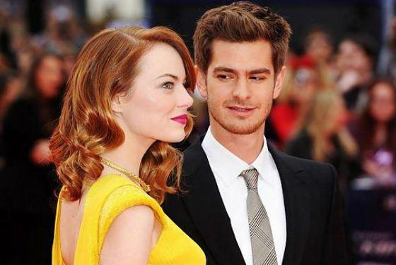 Эндрю Гарфилд и Эмма Стоун на премьере «Человека-паука»