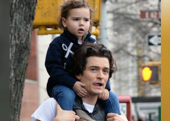Орландо Блум и его сын Флинн