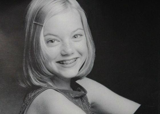Эмма Стоун в детстве