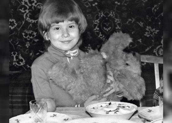 Детское фото Юлии Высоцкой