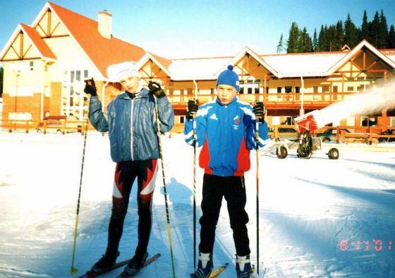 Антон Шипулин с детства стоит на лыжах